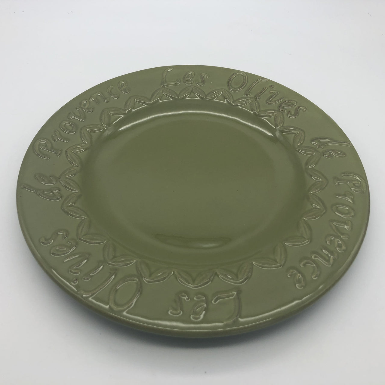 Sakura Les Olives de Provence Green Embossed Earthenware Dinner Plate