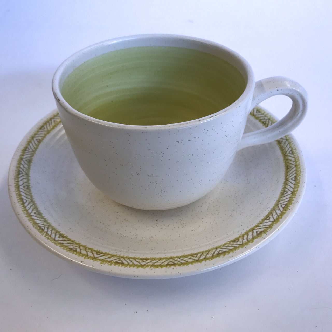 Vintage Franciscan Hacienda Green Cup and Saucer Earthenware