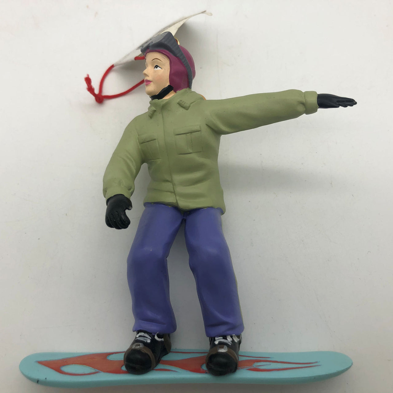 Snowboarder Christmas Ornament Girl Pony Tail Winter