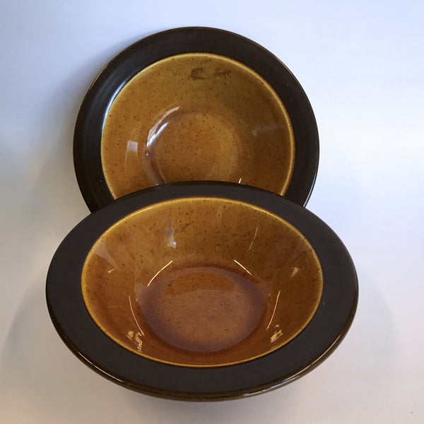 Vintage Homer Laughlin Gold Glade 2 Cereal Soup Bowls