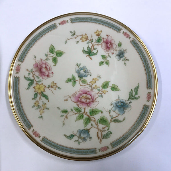 Vintage Lenox Morning Blossom Salad Plate Pink Blue Flowers