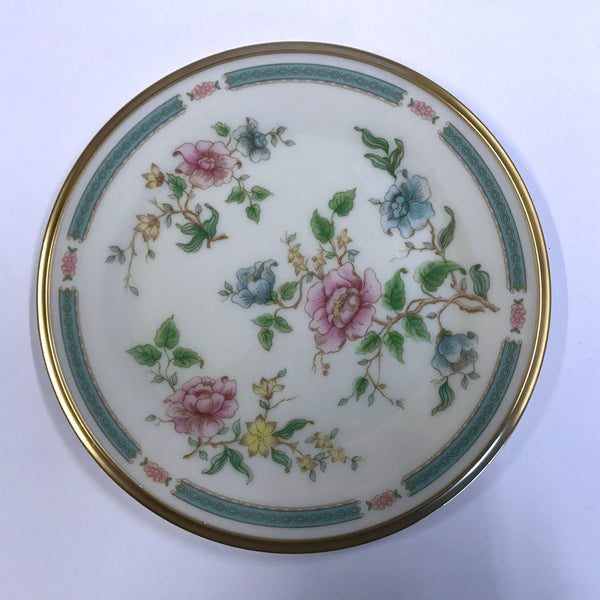 Vintage Lenox Morning Blossom Bread Plate Pink Blue Flowers