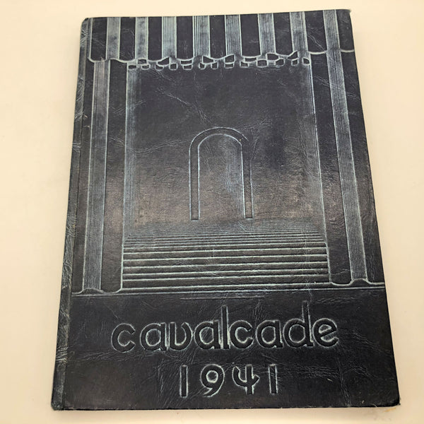 1941 Cavalcade Yearbook Clovis Union High School Hard Cover