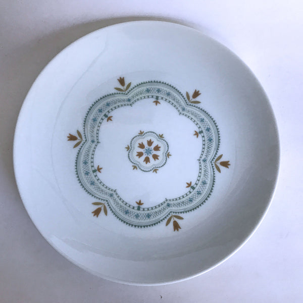 Vintage Noritake Linfield 112 Salad Plate Brown Flowers Blue Yellow Ring