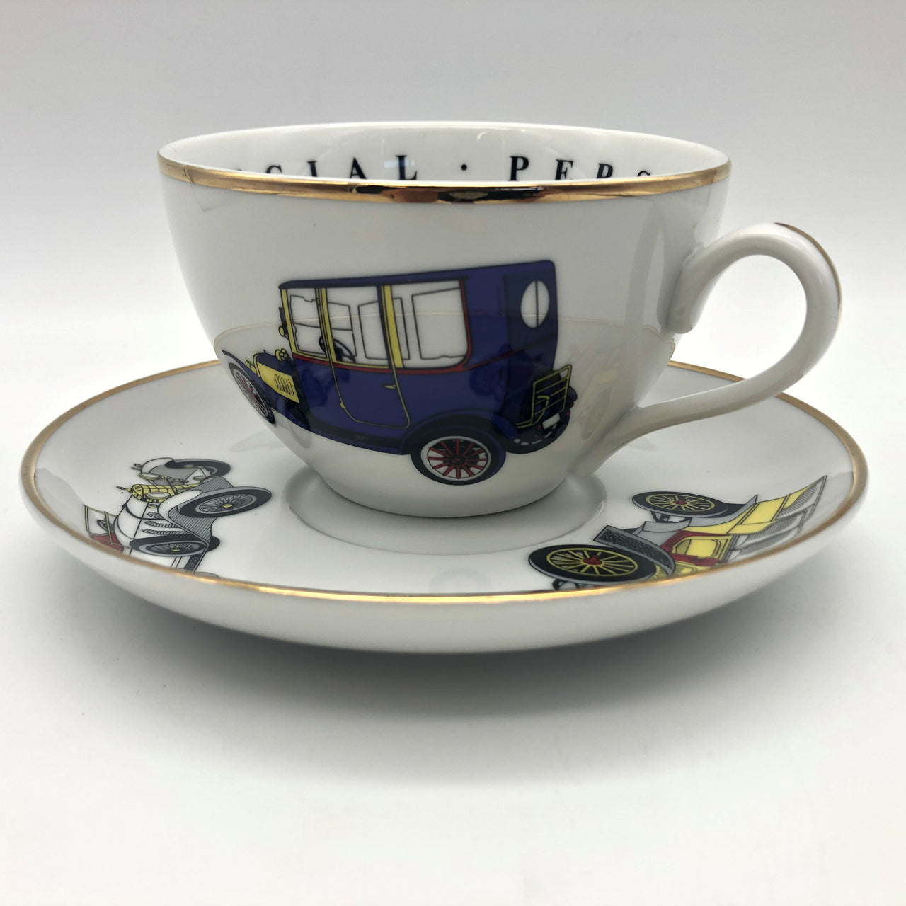 Princess House Fine Porcelain Old Cars Cup and Saucer To A Very Special Person