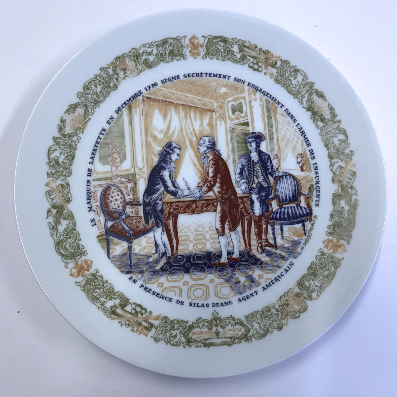 D'Arceau Limoges Lafayette Legacy Secret Contract Plate