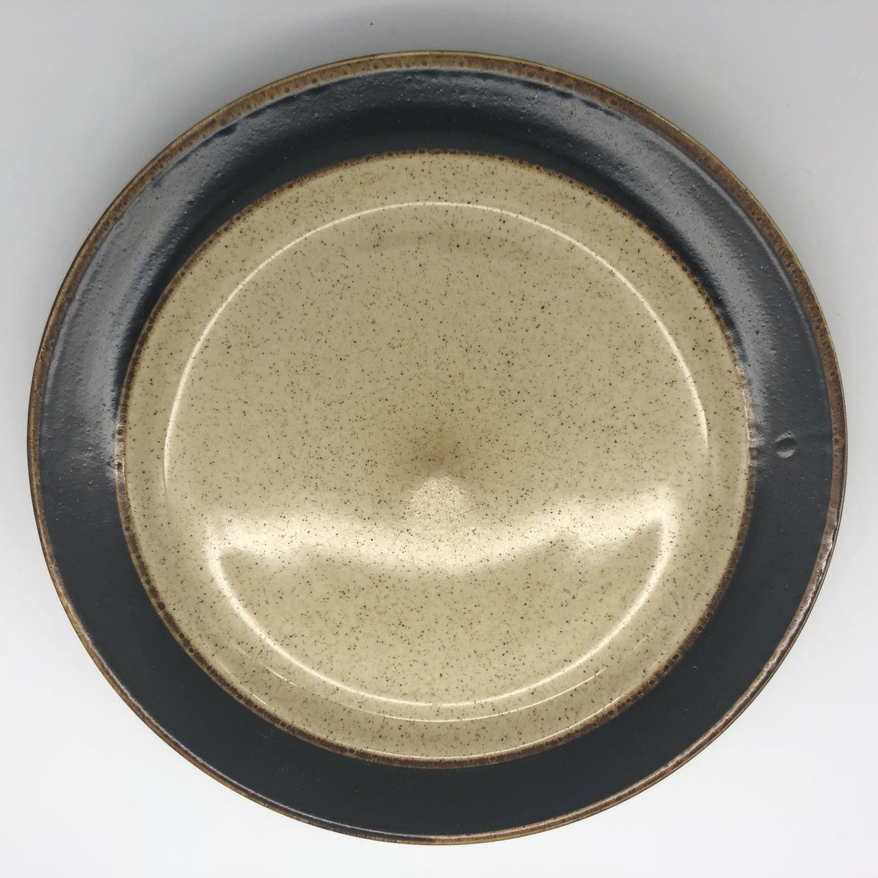 Sango Rainbow Black 8891 Stoneware Dinner Plate 10-3/4""
