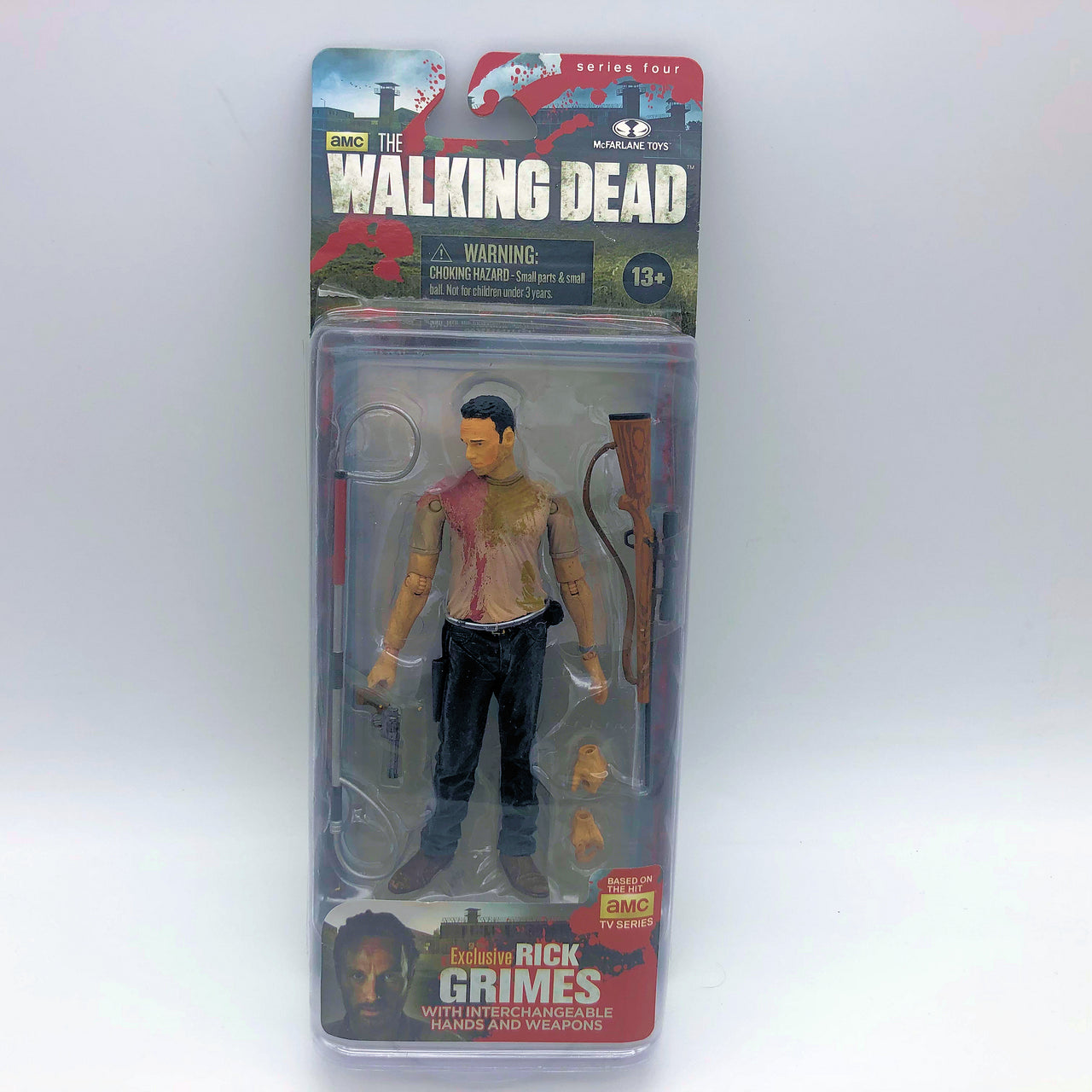 McFarlane Toys AMC The Walking Dead Rick Grimes Interchangable Hands Weapons New
