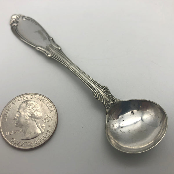 "Antique Hall and Elton Salt Spoon 1890s 3-3/4"" Long"