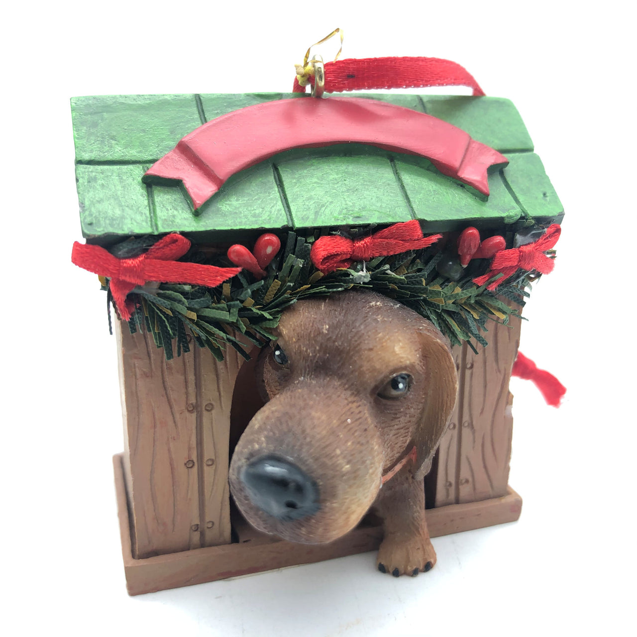 Artlist International Dog in Doghouse Christmas Ornament Dachshund Hound Lab