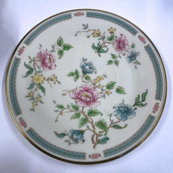Vintage Lenox Morning Blossom Dinner Plate Pink Blue Flowers