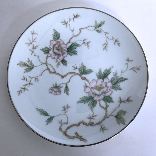 Vintage Noritake Chatham 5502 Bread Plate Pink Flowers on Branches 6-3/8""