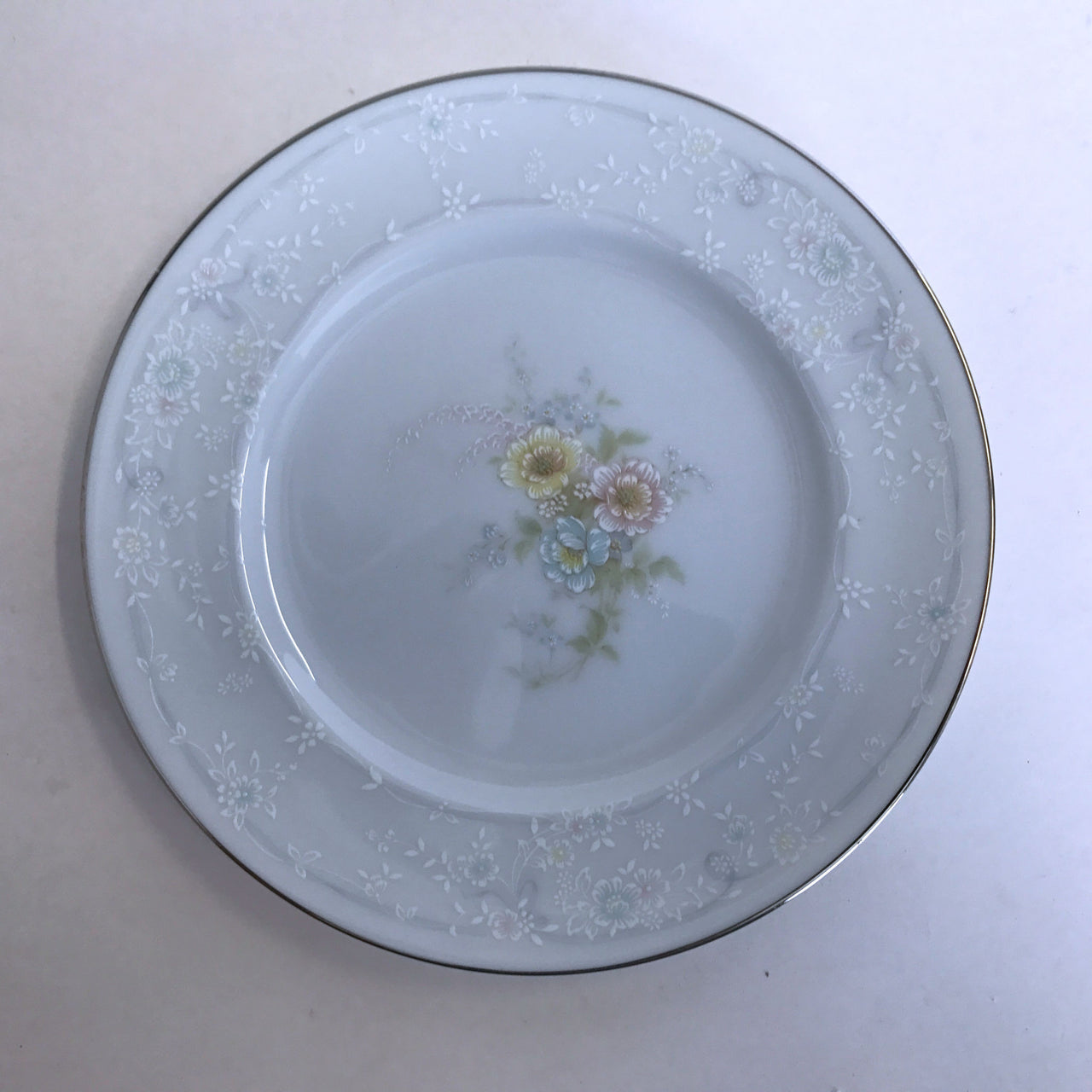 Vintage Noritake Anticipation 2963 Bread Plate Floral Center Flower Rim