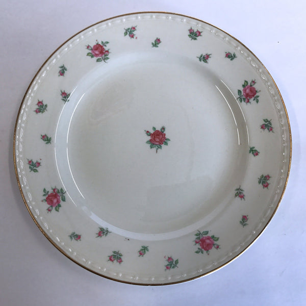 "Vintage Homer Laughlin Rambler Rose Salad Dessert Plate 7"" American Vogue"