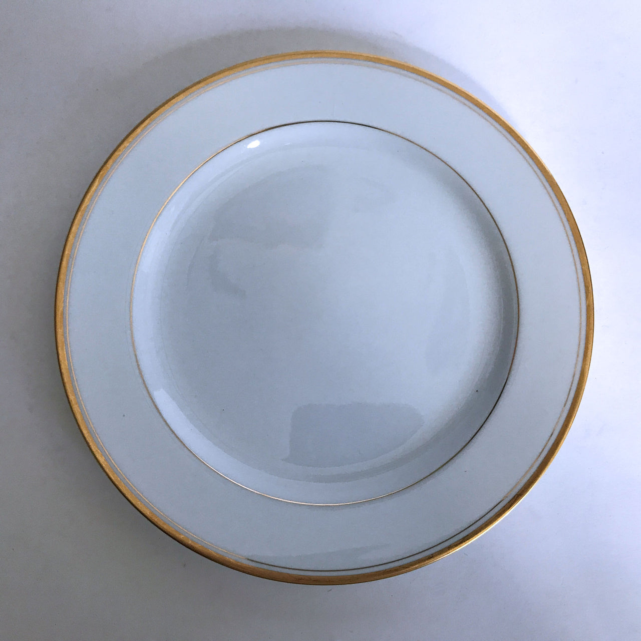 Vintage Noritake Goldlane 5084 Salad Plate White with Gold Trim