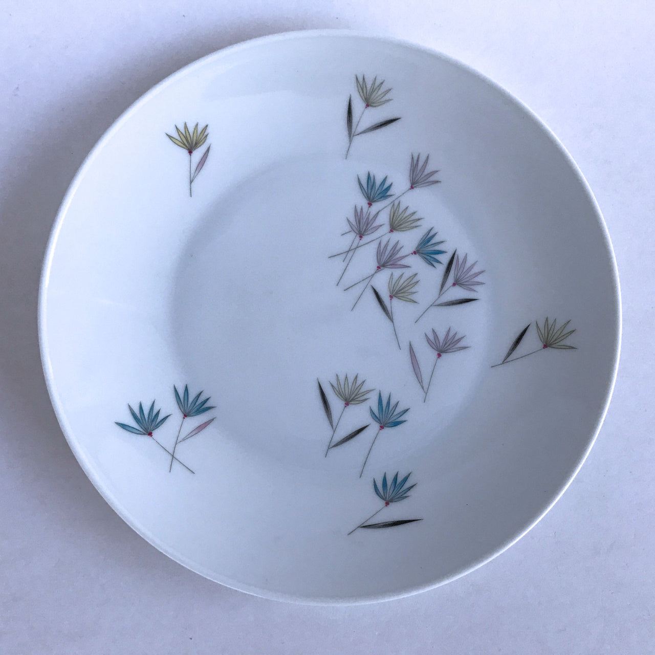 Vintage Rosenthal 3722 Salad Dessert Plate Pink Yellow Blue Flowers