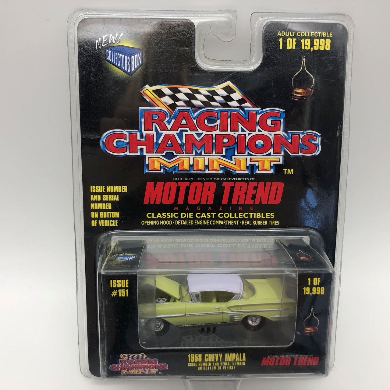Racing Champions Mint 1958 Chevy Impala 1:64 Die Cast Car 3.25""