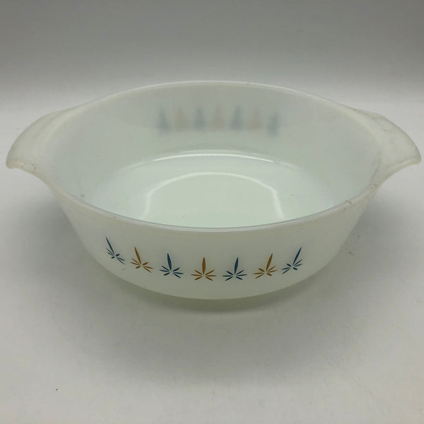 Vintage Anchor Hocking Fire-King Candle Glow Round Baking Dish 8-1/2""