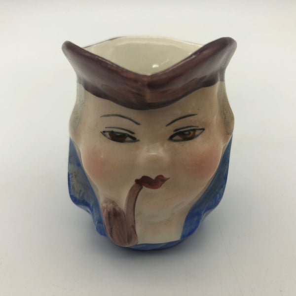 "Vintage Miniature Toby Character Mug Blue PV England 2"" Tall"