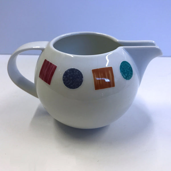 Christopher Stuart Color Lane Pattern Y0114 Round Creamer Pitcher