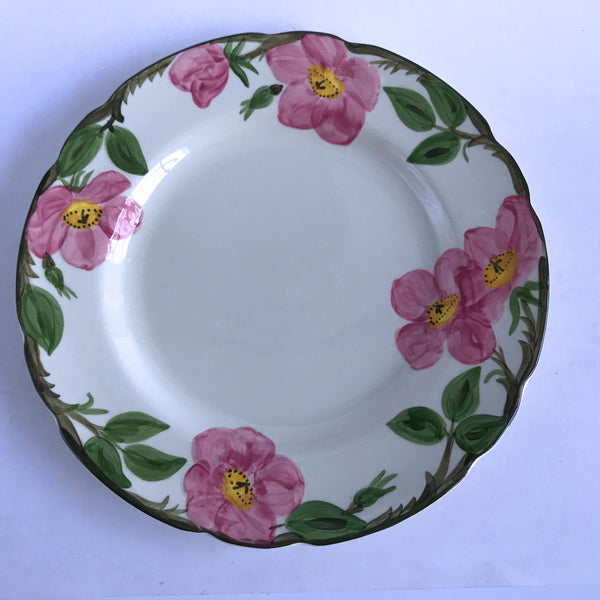 "Franciscan Desert Rose Dinner Plate Black Interpace Big F Backstamp 10-3/4"" Alfie's Treasures 1"