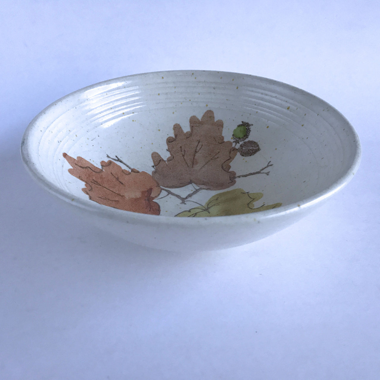 Vintage Metlox Poppytrail Woodland Gold Serving Bowl 8""