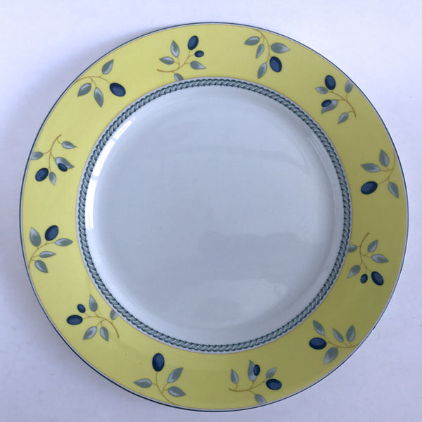 "Royal Doulton China Blueberry Dinner Plate 2005 Blue Yellow 10-1/8"" Alfie's Treasures 1"