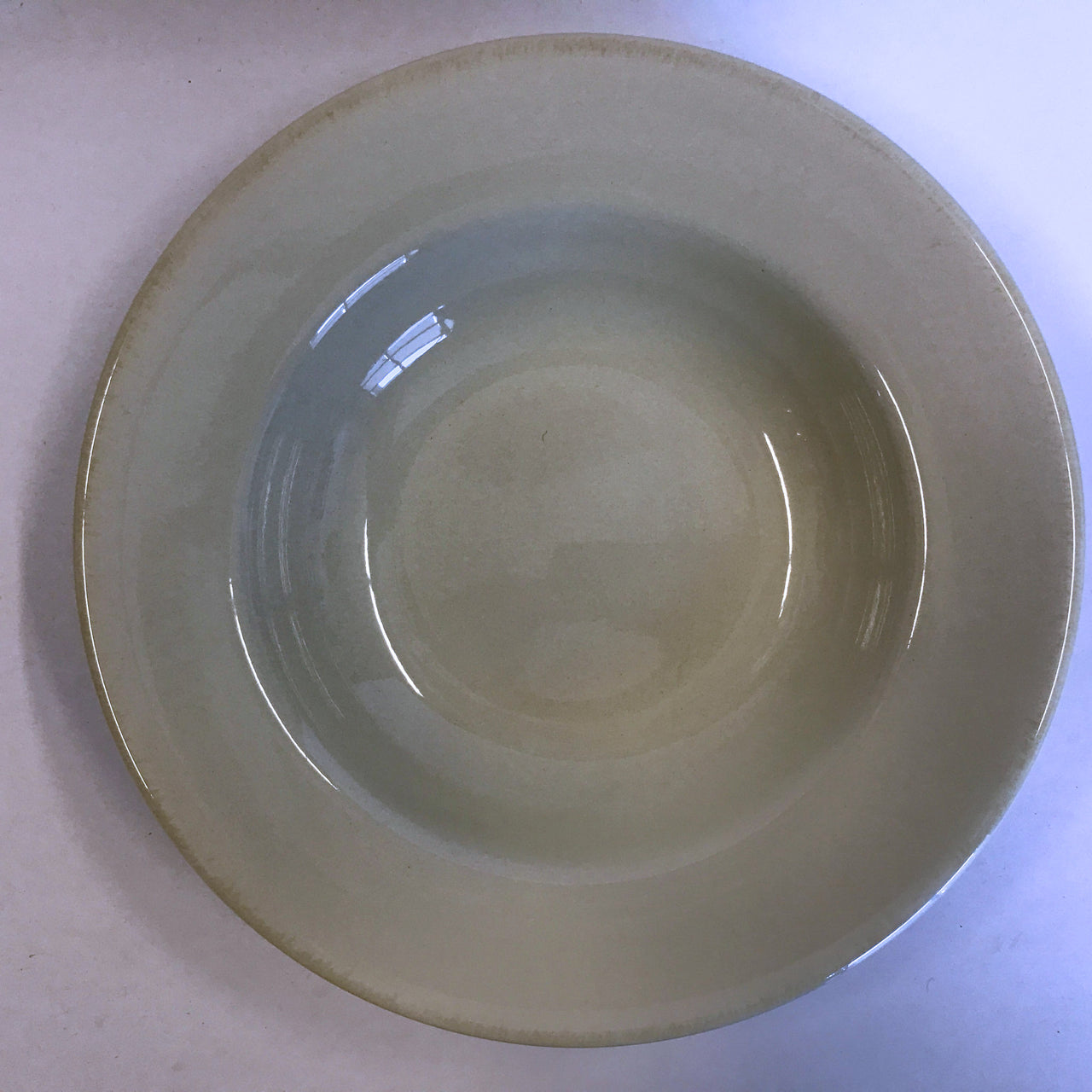 Tag Ltd Sonoma Tan Rimmed Soup Bowl Ironstone Rustic Edge 10""