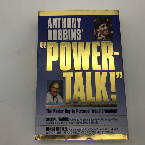 Anthony Robbins Power-Talk Master Key to Personal Transormation Cassette Tapes