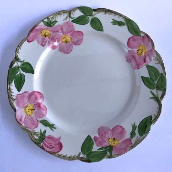"Franciscan Desert Rose Dinner Plate Brown Interpace Backstamp 10-3/4"" Alfie's Treasures 1"
