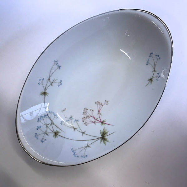 Vintage Meito Heather Oval Vegetable Serving Bowl Flowers