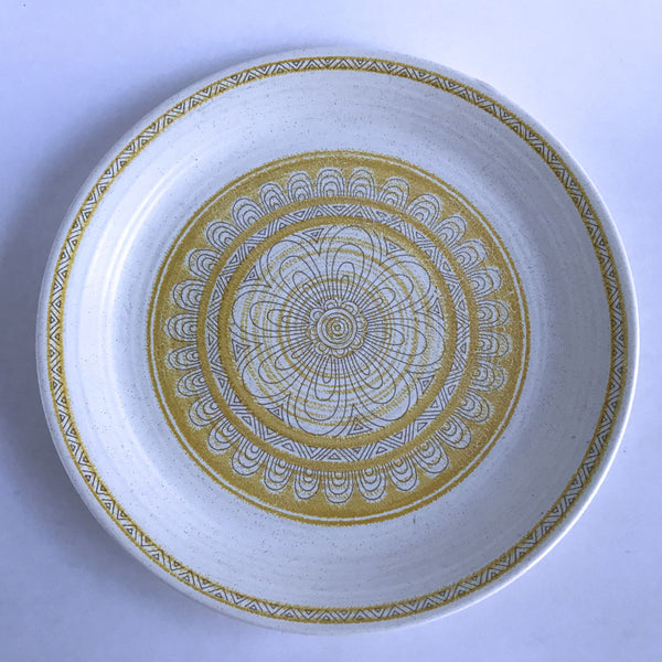 Franciscan Earthenware Hacienda Gold Dinner Plate Blue Mission Backstamp Alfie's Treasures 1