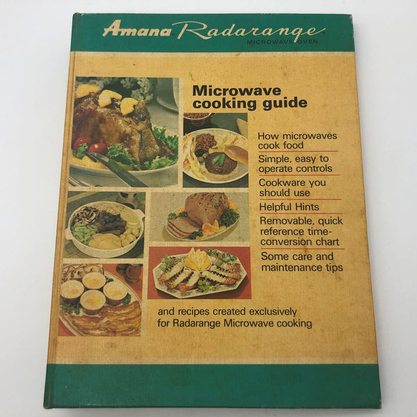 Vintage Amana Radarange Microwave Cooking Guide Cookbook 1968