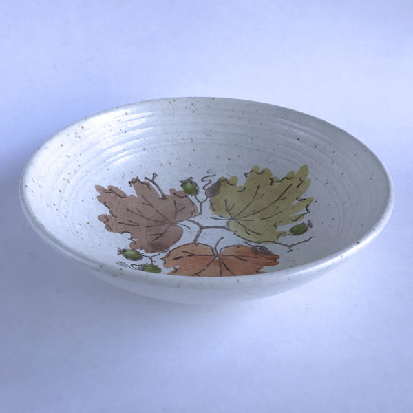 Vintage Metlox Poppytrail Woodland Gold Serving Bowl 9""