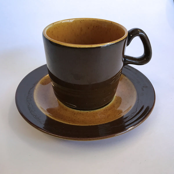 Vintage Homer Laughlin Gold Glade Cup and Saucer Tea Coffee