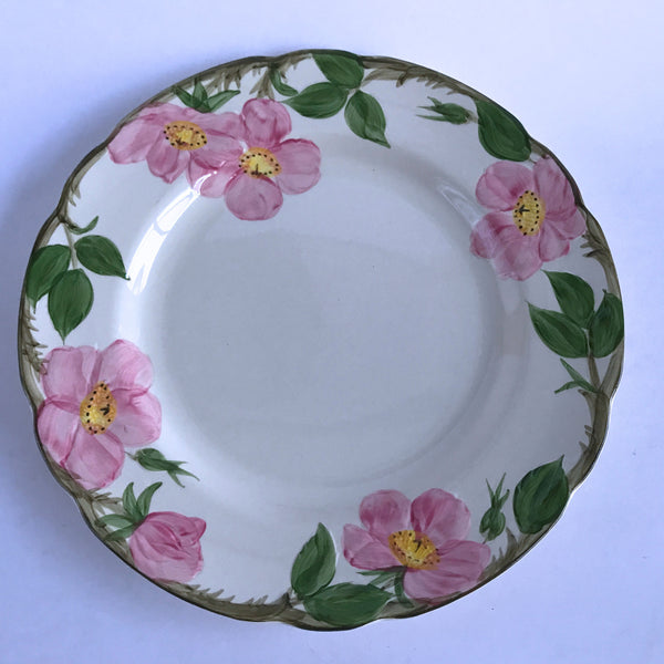 "Franciscan Desert Rose Dinner Plate Black Interpace X1-73 Backstamp 10-3/4"" Alfie's Treasures 1"