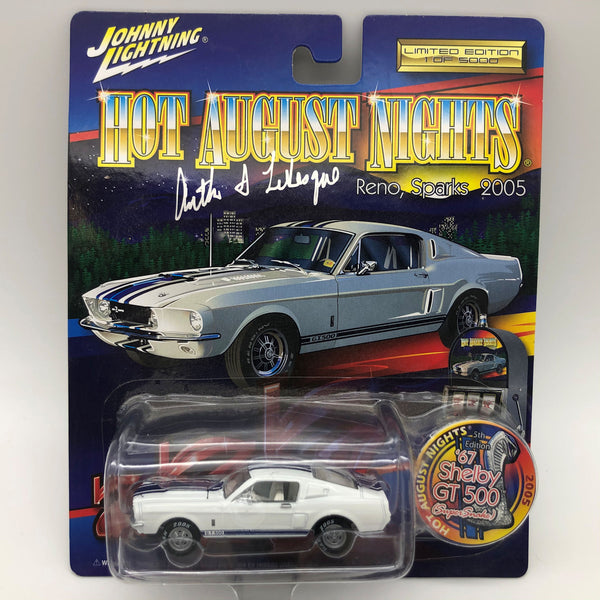 Johnny Lightning 2005 HAN Reno 67 Mustang Shelby GT500 Die Cast Car Signed