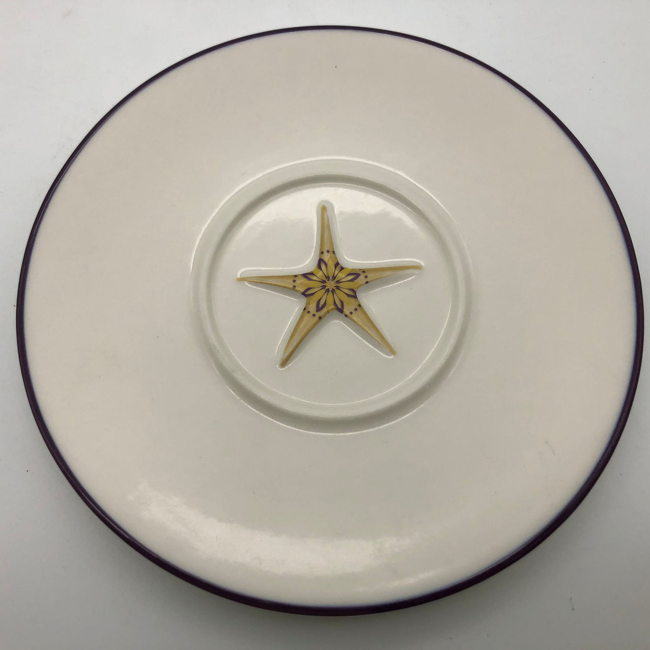 "Starbucks Holiday 2006 Saucer 6-1/2"" Star Snowflake"