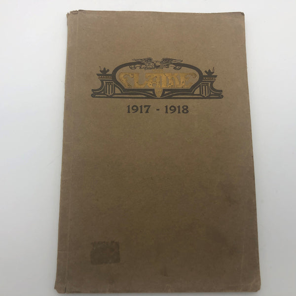 Antique Yearbook 1917-1918 The Flame Fremont