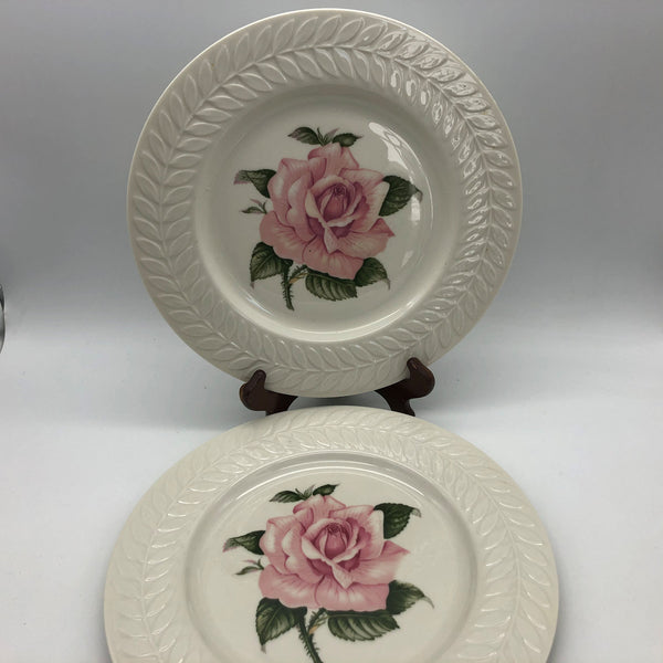 2 Theodore Haviland Regents Park Rose Dinner Plates 10-3/4""
