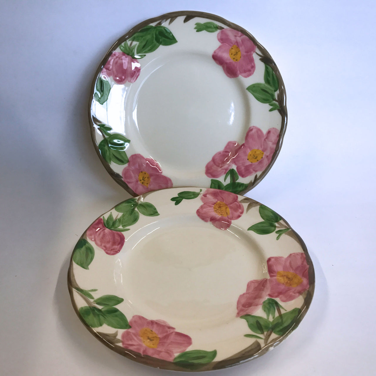 Vintage Franciscan Desert Rose 2 Salad Plates Made in England Large Logo