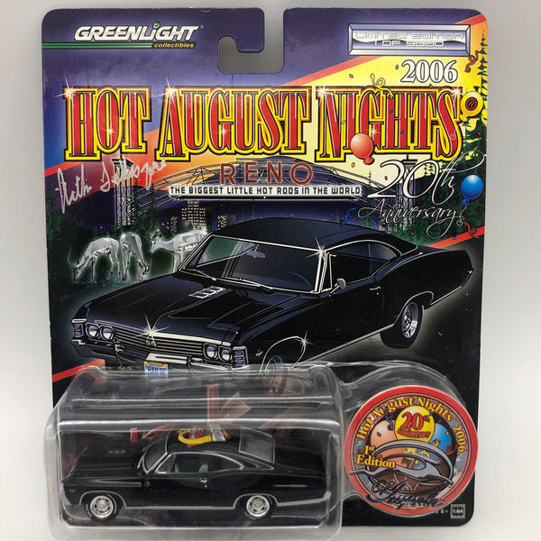 Greenlight 2006 HAN Reno 1967 Chevy Impala Die Cast Car Signed