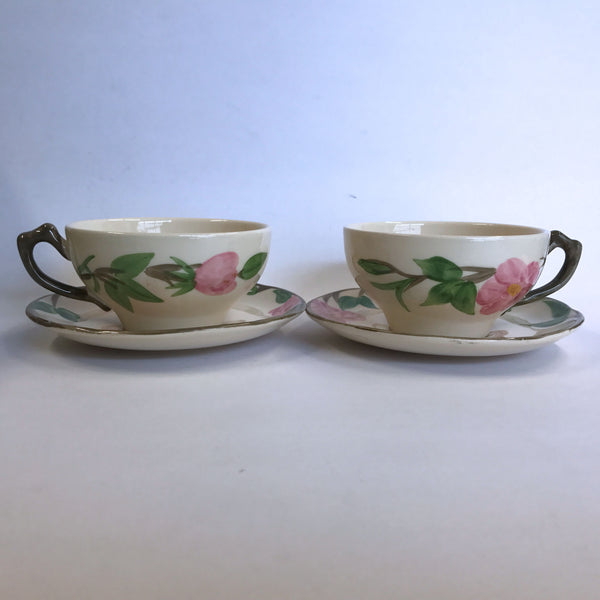 Vintage Franciscan Desert Rose 2 Cups and Saucers Made in England