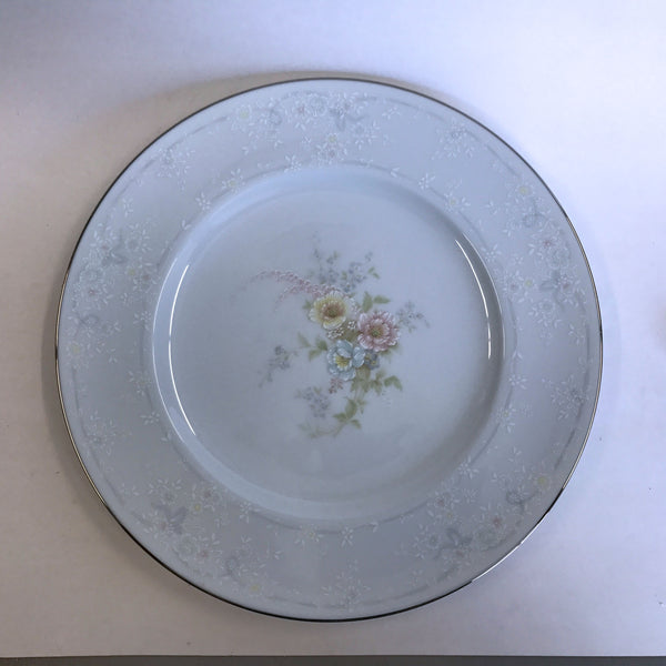 Vintage Noritake Anticipation 2963 Dinner Plate Floral Center Flower Rim
