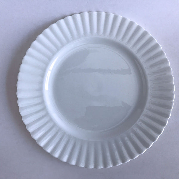 "Royal Albert Reverie Dinner Plate White Fluted 10-1/2"" Alfie's Treasures 1"