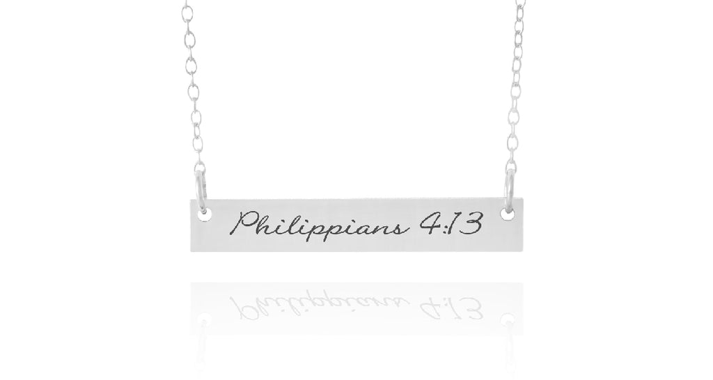 Bible Verse Horizontal Bar Necklace