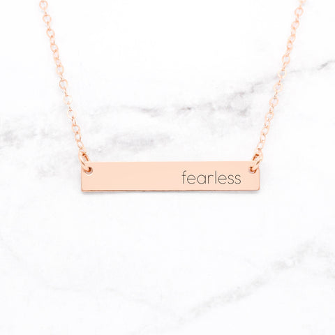 Be Still - Vertical Bar Necklace