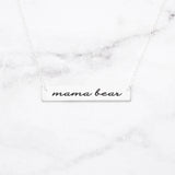 Mama Bear Bar Necklace - Rose Gold