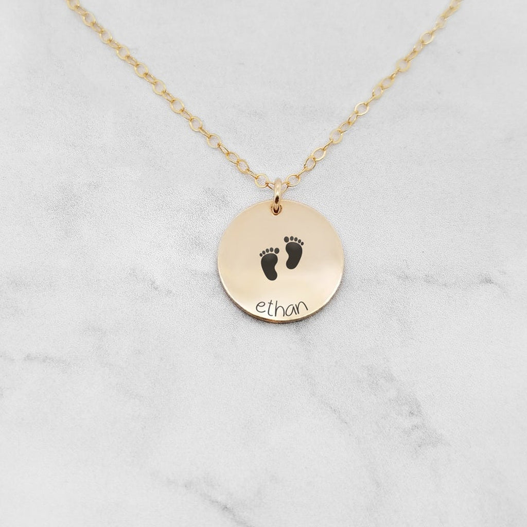 New Baby Necklace - Personalized Necklace For Mom