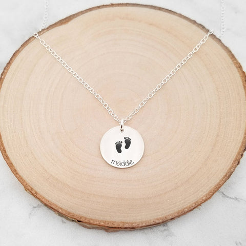 Mama Bear Bar Necklace - Sterling Silver